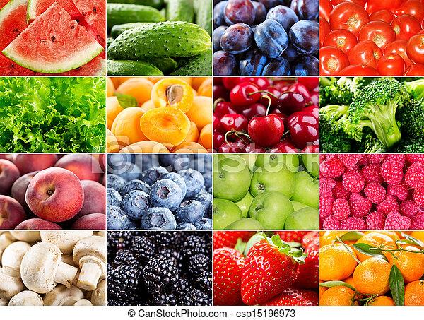 장과, 약초, 야채, 과일, 여러 가지이다 - csp15196973