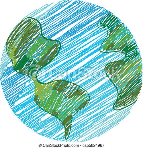 지구, 낙서 - csp5824967