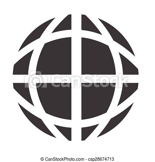 지구 지구, 아이콘 - csp28674713