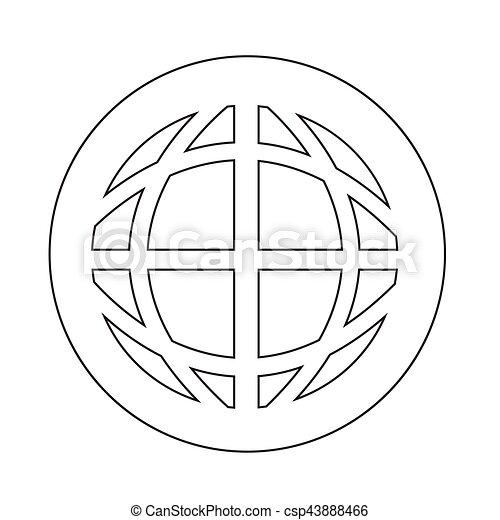 지구 지구, 아이콘 - csp43888466