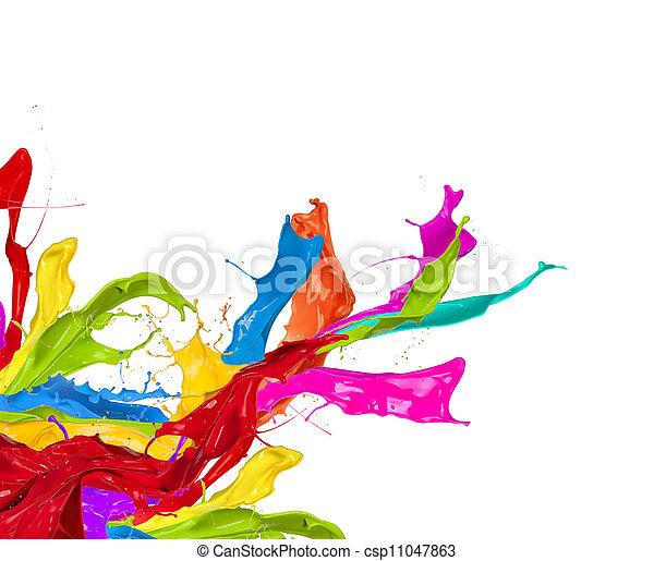 착색되는, 떼어내다, 고립된, 모양, 튀김, 배경, 백색 - csp11047863