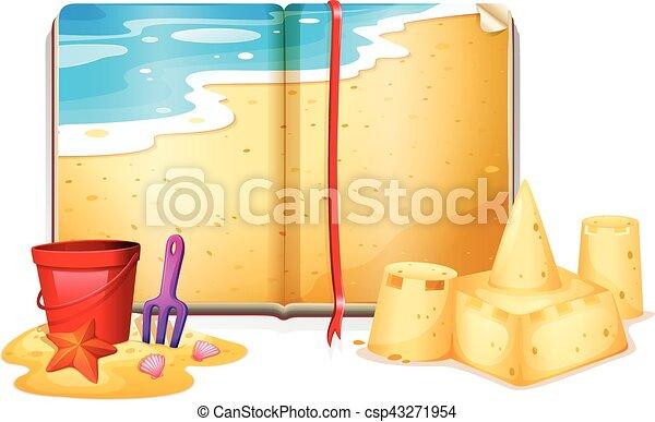 책, 바닷가 장면 - csp43271954
