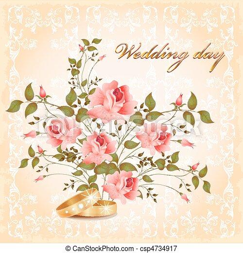 카드, 결혼식 - csp4734917