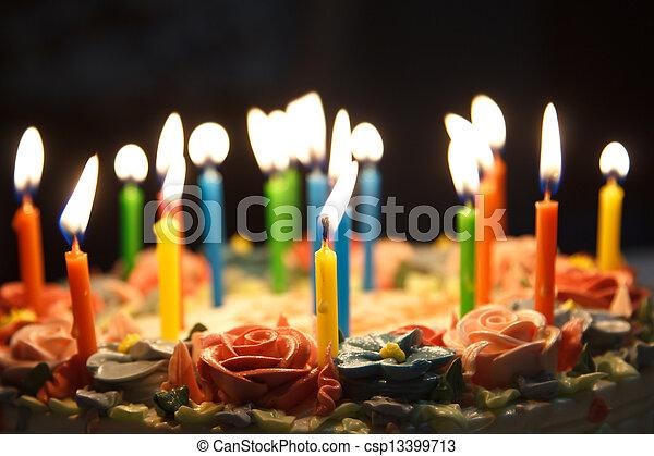 케이크, 생일 - csp13399713