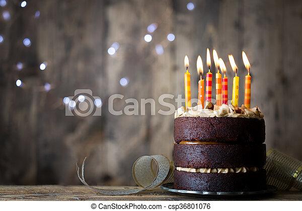 케이크, 생일 - csp36801076