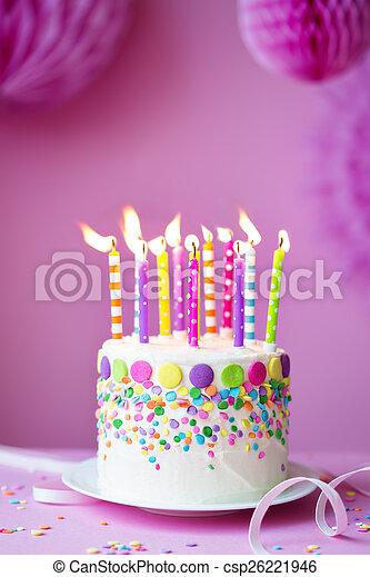 케이크, 생일 - csp26221946