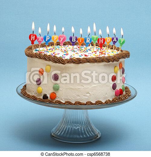 케이크, 생일, 행복하다 - csp6568738
