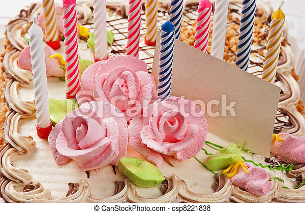 케이크, 초, 생일 - csp8221838