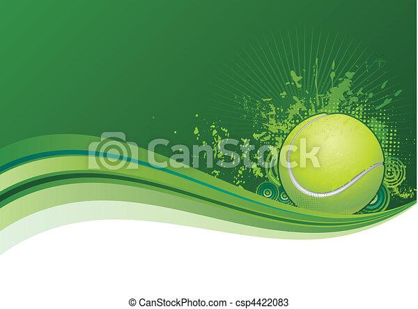 테니스, 배경 - csp4422083