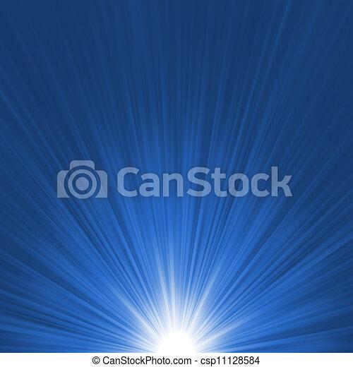 파란 별, 파열, flare., eps, 8, 백색 - csp11128584