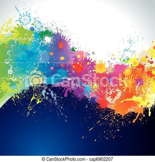 페인트, 파도 - csp6902207