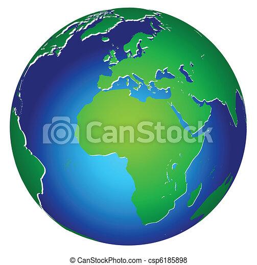 행성 지구, 세계, 아이콘, 세계 - csp6185898