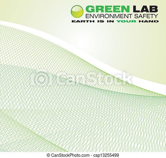 환경, 녹색의 배경 - csp13255499