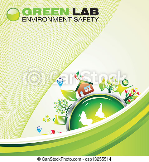 환경, 녹색의 배경 - csp13255514