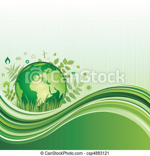 환경, 녹색의 배경 - csp4883121