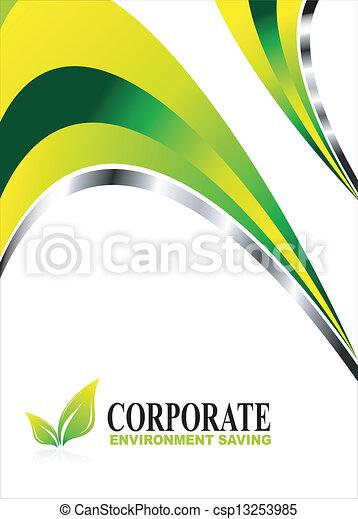 환경, 녹색의 배경 - csp13253985