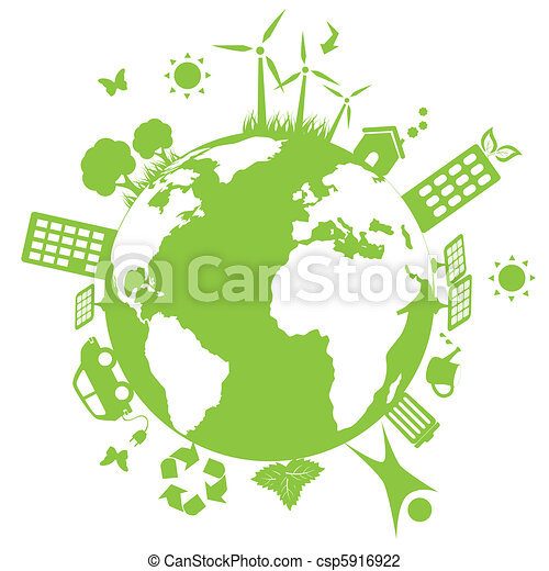 환경, 녹색의 지구 - csp5916922