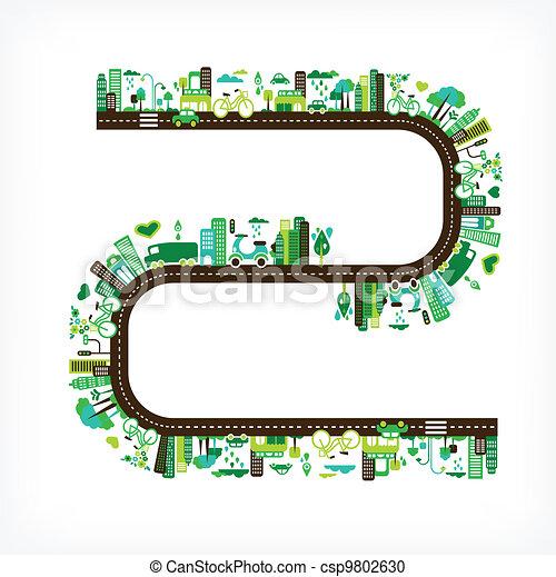 환경, 도시, 생태학, -, 녹색 - csp9802630