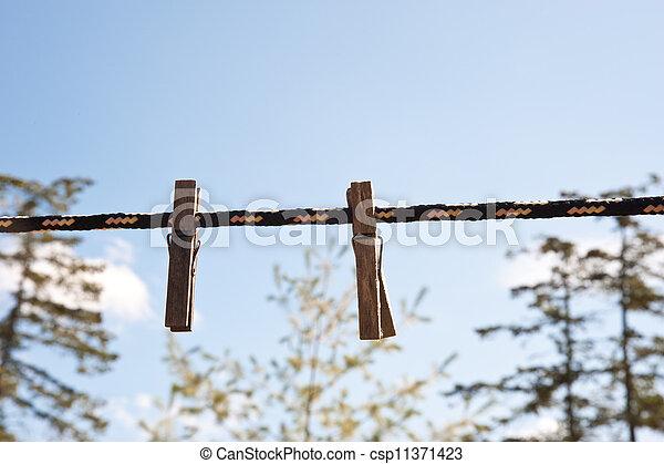 clothespins - csp11371423