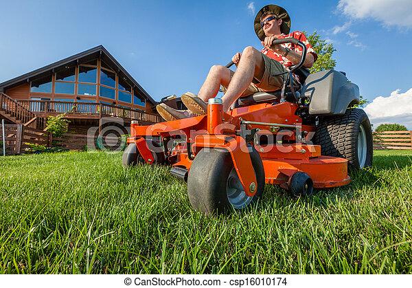 lawnmower를 타는 것 - csp16010174